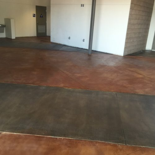 Centerpoint Church Youth concrete floor stain Scofield